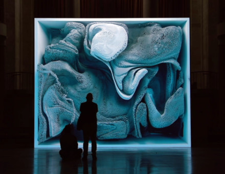 Refik Anadol, Melting Memories: Engram as data sculpture